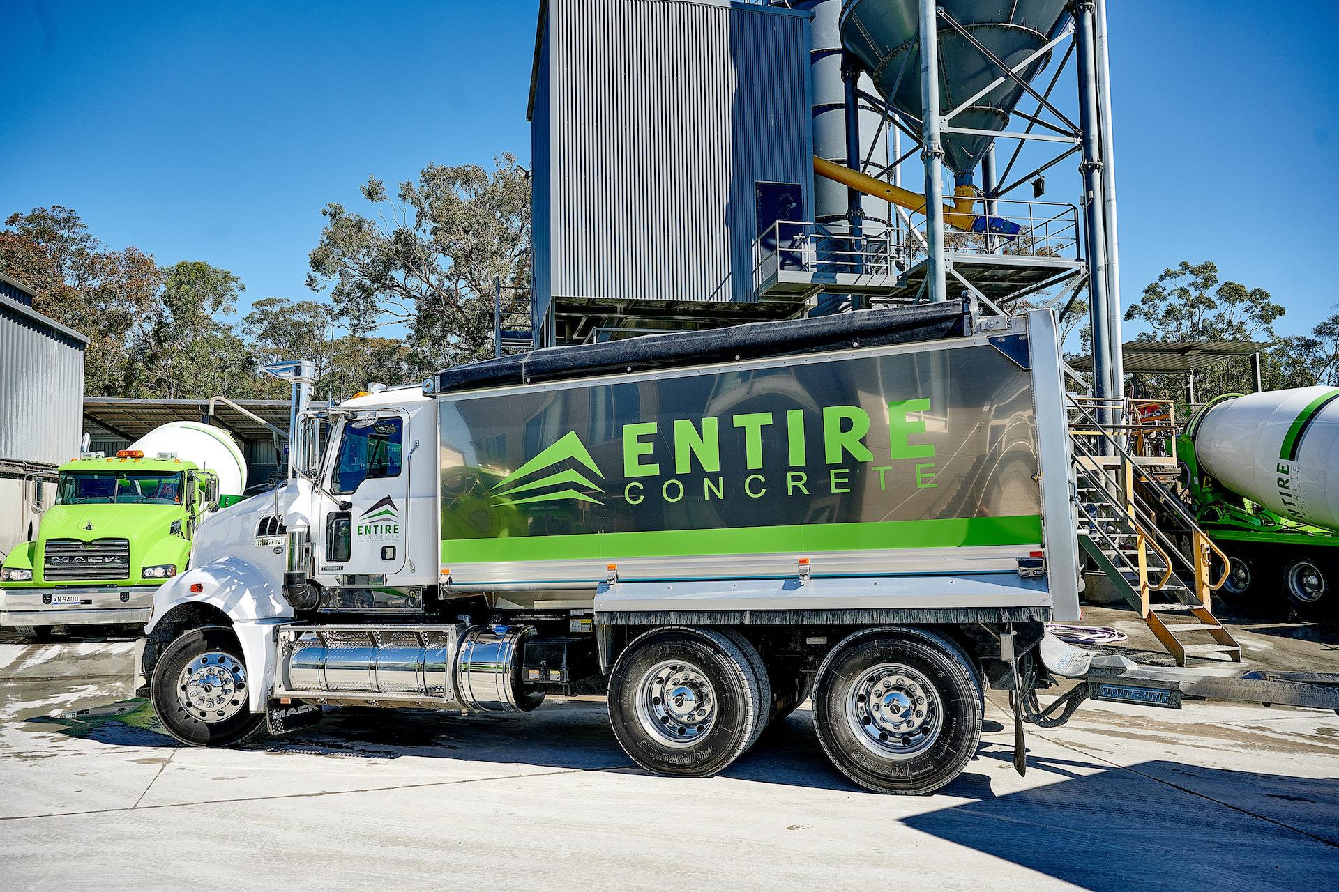 Entire Concrete Truck